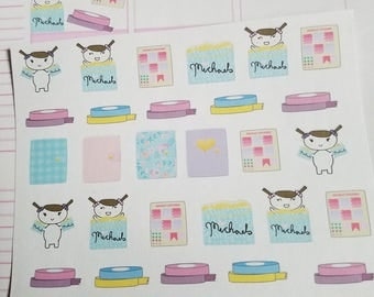Plan day Planner stickers. Emoji doodle shopping stickers Perfect for any planner