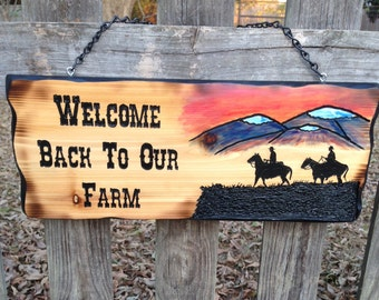 Farm Welcome Sign ( ON SALE )