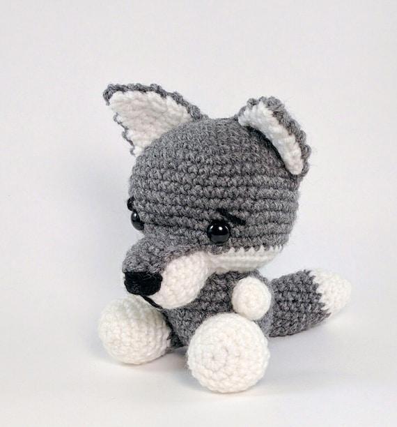 Amigurumi Single Crochet : PATTERN: Crochet wolf pattern amigurumi by TheresasCrochetShop