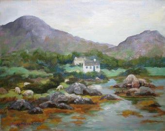 Along the Beara Peninsula, Ireland, Original Oil Painting