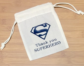 SET OF 10 Superhero Favor Bags
