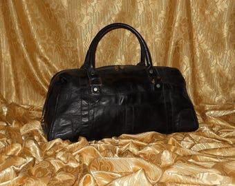 Genuine vintage travel bag - genuine leather