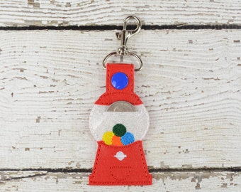 Gumball Quarter Keeper Keychain - Bag Tag - Small Gift - Gift for Her - Thank You Gift - Bag Accessory - Zipper Pull