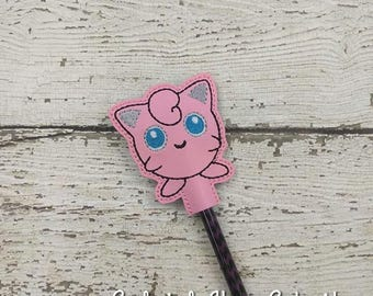 Jiggle Pencil Toppers - Pokemon Inspired - Party Favor - Valentine - Small Gift - Back to School