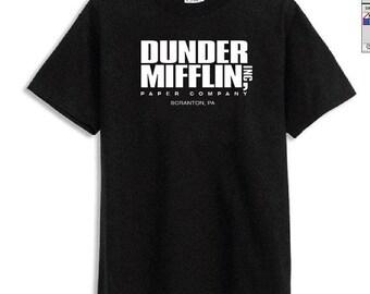 Dunder Mifflin Paper The Office Funny SCHRUTE Men's BLACK T-Shirt