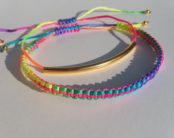 Set of two friendship bracelets, Multicolour bracelets,Makrame bracelets, Shambala Bracelets