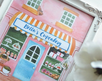 Bella's Cupcakery Art Print