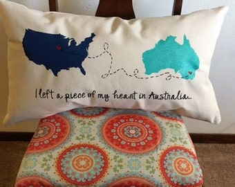 Left a piece of my heart in..... Travel Pillow