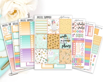 Pastel Summer | Spring/Summer Planner Sticker Deluxe Kit