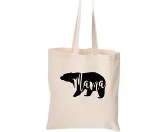 Mam Bear Tote, Mama Bear, Mama Bear Baby Bear, Gifts for Mom, Mom Gifts, Laptop Bag, Bridal Shower Gift, Tote Bag, Christmas Gifts for Mom