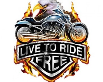 Live To Ride Free Motorcycle T-Shirt