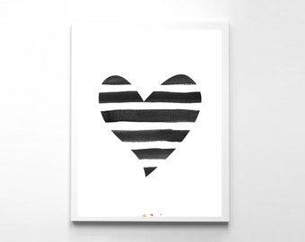Heart Art Print Heart Poster Instant Download Love Decor Valentines Day Gift Wedding Heart Poster Wall Decor Print Wall Art