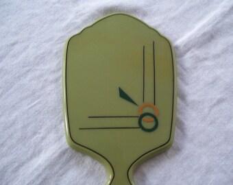 Art Deco Hand Mirror Green Hand Mirror Vintage