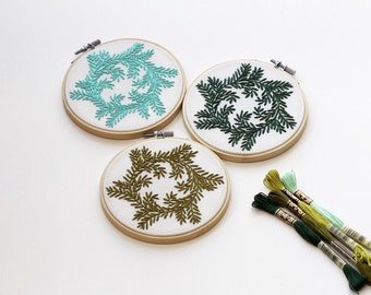 Hand Stitched Embroidery Wreath