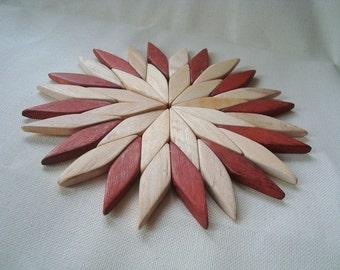 Wooden trivet. Hot mat. Pot holder. Stands for hot