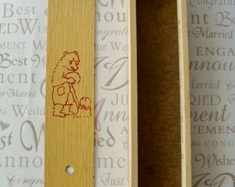 Cartuchera estuche Vintage lápiz de madera caja madera lápiz caso escuela lápiz caja soviético caso USSR lápiz de madera caja de lápiz