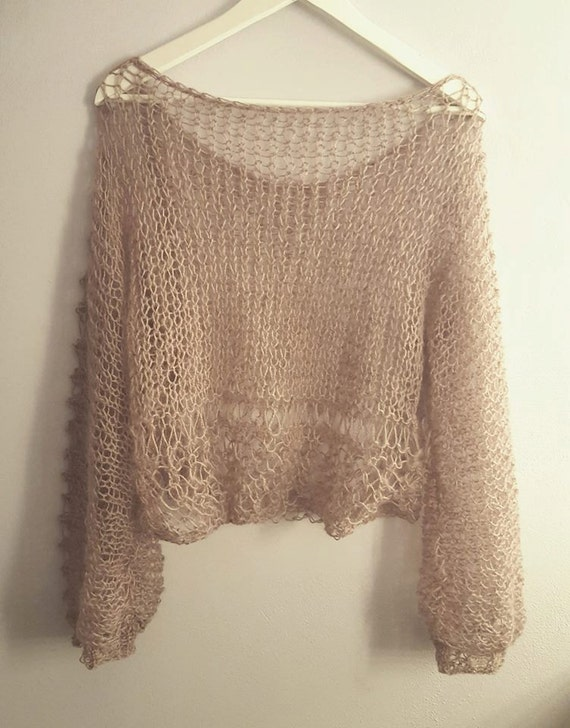 NEW oversized loose knitted  sweater. Hand knitted oversized sweater made of mohair and acrylic yarn. Available in many colors.