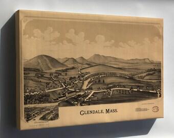Canvas 24x36; Map Of Glendale, Massachusetts 1890