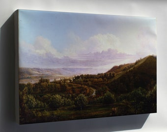 Canvas 24x36; Henry Lovie View Of Bald Face Creek In The Ohio River Valley