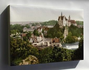 Canvas 16x24; Sigmaringen, Germany Photochrom 1895
