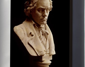 Canvas 16x24; Ludwig Van Beethoven Bust By Hugo Hagen