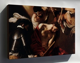 Canvas 16x24; Crowning With Thorns (Caravaggio)