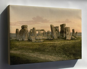 Canvas 16x24; Stonehenge C1895 Photochrom