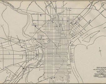 16x24 Poster; 1911 Philly Streetcar Map 01