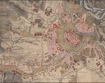 16x24 Poster; Vienna Map, 1773–81