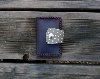 Woman Wallet, Leather Wallet, man Wallet, polka dots wallet, Wallet, Wallet Brown, polka dots Leather, brown Leather, Leather purse, Wallet