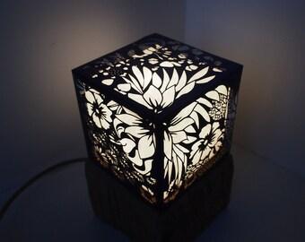 """Lamp series """"floral""""."""