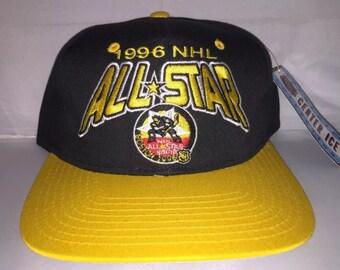Vintage 1996 NHL All Star Game Snapback hat cap rare 90s hockey boston bruins Starter