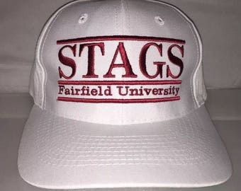 Vintage Fairfield University Stags Snapback hat cap rare 90s The Game bar NCAA College