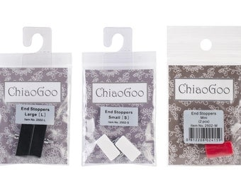 ChiaoGoo End Stoppers - Small, Large or Mini 2/Pkg, #2502- ***Free Shipping***