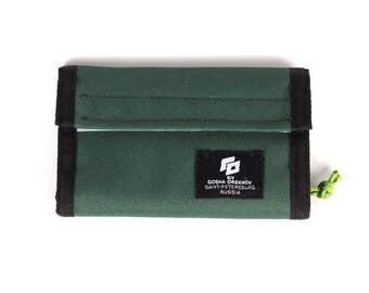 Green Cordura Wallet with velcro closure