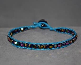 multicolor beaded wrap bracelet