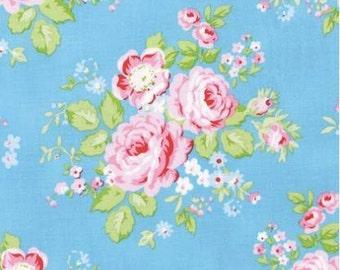Free Spirit - Tanya Whelan - Rambling Roses - PWTW129.BLUE - Westminster Fibers - Rose - Pink - Blue - Floral - Flowers - Spring - Summer
