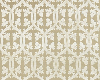 SCALAMANDRE FALK MANOR House Trellis Cut Velvet Fabric 10 Yards Alabaster