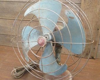 1940s GE General Electric Fan Vortalex 16 Inch Metal Blades 3 Speed Parts Repair