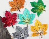 1 pcs Embroidered maple leaf Appliques,Embroidered Flowers,Iron-on Patches For Dress Supplies,For Dress DIY (175-25)