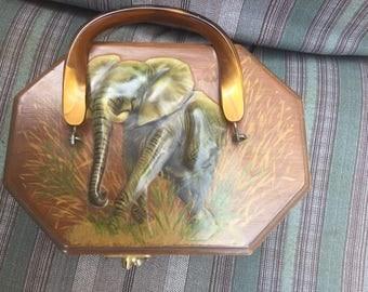 Wild African Safari Decoupage wood box purse