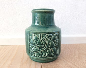 Michael Andersen vase - Green vase from the 1960s  - Danish design - Stoneware vase in perfect condition