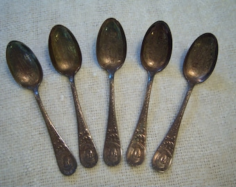 Worlds Fair spoons,1893,demitasse spoons,souvenir spoons,Standard,collectible spoons,dining,entertaining,ornate design