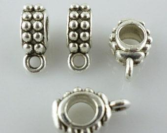 40/300Pcs Tibetan silver DIY Crafts Charms Bail Connectors