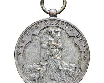 1887's Antique Italy Stefano Johnson Religious Medal