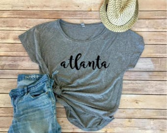 Atlanta Dolman Tee - Georgia - Women's Shirt - Women's Clothing - Triblend Tee - City Shirts - Gift for Her - Gift for Mom - Dolman Shirt