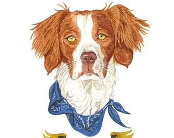 Spaniel. Custom Dog Portrait. Custom Pet Portrait. Custom Pet Painting. Pet Painting. Dog Portrait. Pet Watercolor. 8x10in