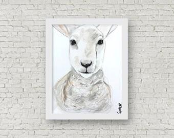 ORIGINAL - Sheep, Watercolor, 11x15 inches