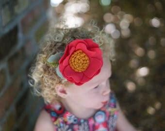 Single Flowers, felt flowers , spring flowers, Blooms, felt  Crowns