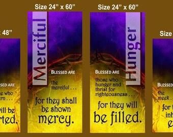Beatitudes - Banner Set of 4 (G915)
